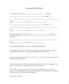 non compete agreement business forms