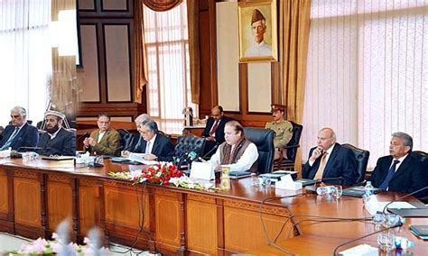Pakistan Cabinet Ministers by Plan To Strengthen Nsc Says Sharif Pakistan