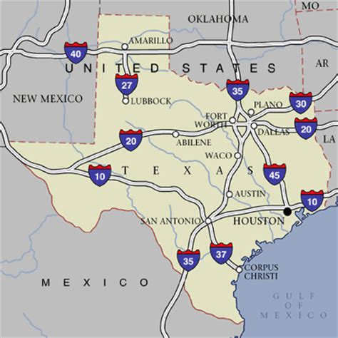 map of texas interstates texas highway map infobarrel images