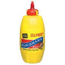 S Classic Yellow Mustard 9 Oz plochman s mustard classic yellow 24 oz
