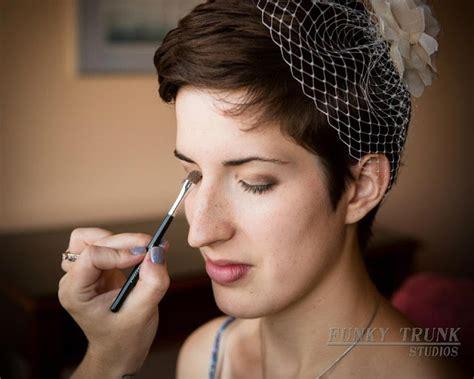Wedding Hair With Pixie Cut by Blue Moon Sun Wedding Pixie Cut Hair And Fascinator