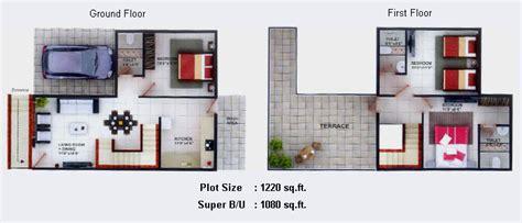 Floor Plans 1 Bhk Duplex House Plans