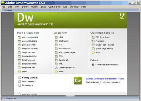 dreamweaver tutorial introduction adobe dreamweaver cs3 training videos