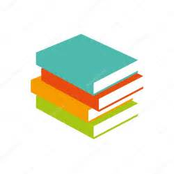 books vector illustrator stack of colored books learning