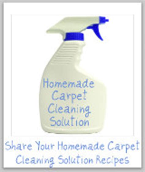 Rug Cleaner Recipe by Carpet Cleaner And Carpet Shoo Recipes