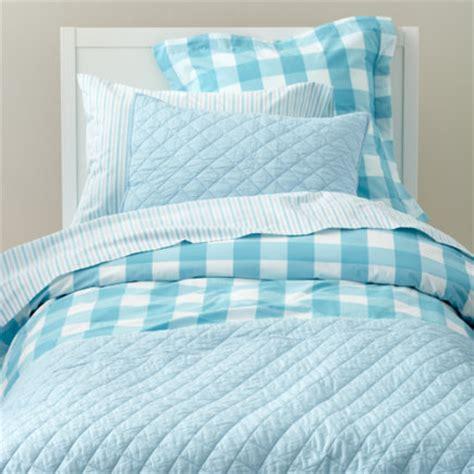 blue gingham comforter girls bedding kids room decor