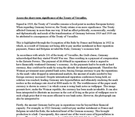 Treaty Of Versailles Essay by Treaty Of Versailles Essay