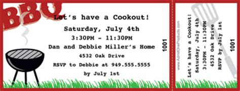 bbq ticket template free chicken bbq ticket template images