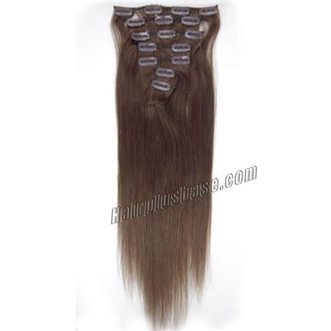 30 inch 4 27 brown 30 inch 4 medium brown clip in human hair extensions 11pcs