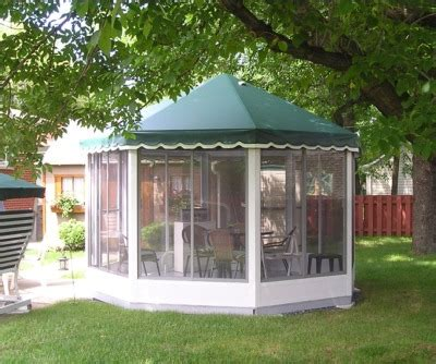 backyard screen house octagonal free standing screen rooms gazebo style screen