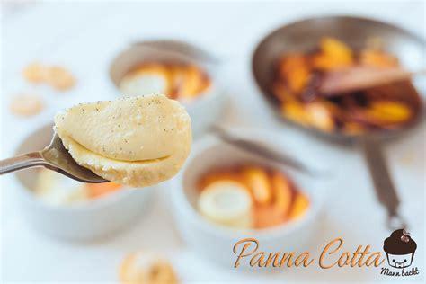 panna cotta anrichten panna cotta mit karamellisierten vanille nektarinen mann
