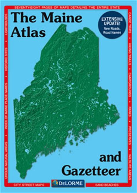 maine delorme atlas road maps topography