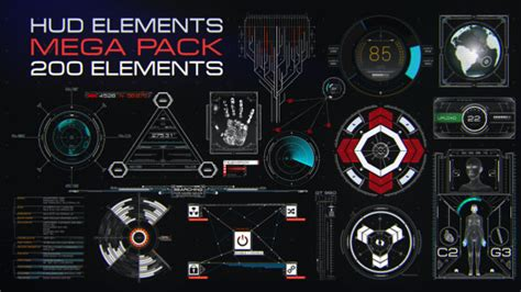 after effects template free iron man holographic hud elements mega pack by brodzeli videohive