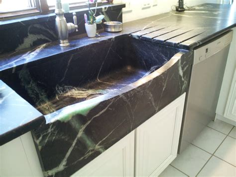 Houzz Kitchen Sinks Carved Soapstone Sink Traditional Kitchen Sinks New York By La Pietra Marble Inc