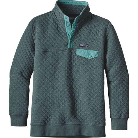 sweatshirt comforter patagonia cotton quilt snap t pullover sweatshirt women
