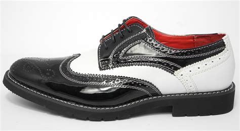 spats shoes mens patent shiny leather look spats brogues gatsby shoes