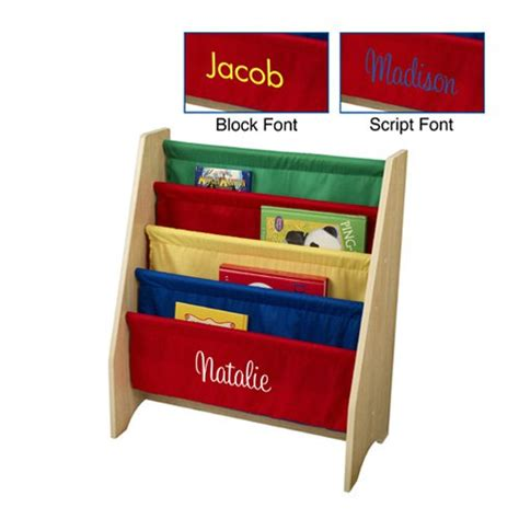 kidkraft 4 shelf primary colored sling bookshelf with