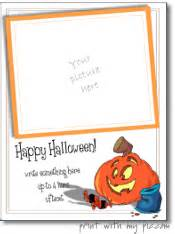 Halloween Card Templates Free Free Halloween Photo Card Templates