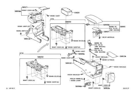center console latch lock console compartment door genuine toyota part
