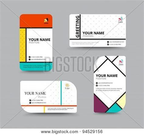 Name Card Design Template by Business Card Vector Photo Free Trial Bigstock