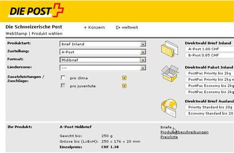 Post Schweiz Brief Usa Post Huwis Achterbahn