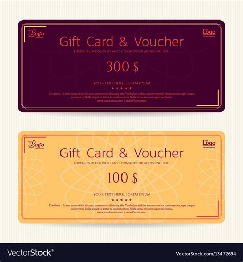 Gift Card Image Template by Gift Card Or Gift Voucher Template Vector Image