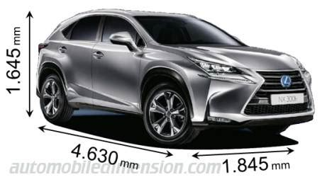 lexus length dimensions of lexus cars showing length width and height