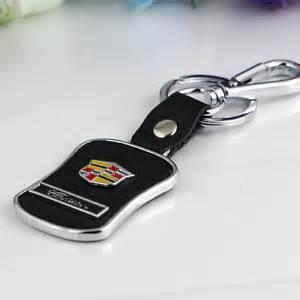 Cadillac Key Rings High Quality Leather Metal Car Logo Keychain Key Ring For