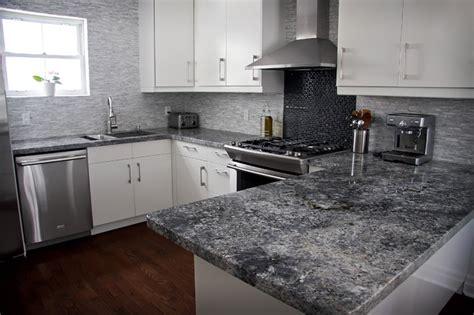 Dark granite countertops backsplash ideas, grey white