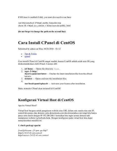 membuat web hosting di centos tutorial centos 5 untuk webhosting
