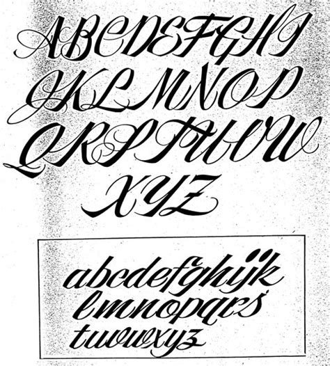 tattoo fonts a z cursive letters a z letters font