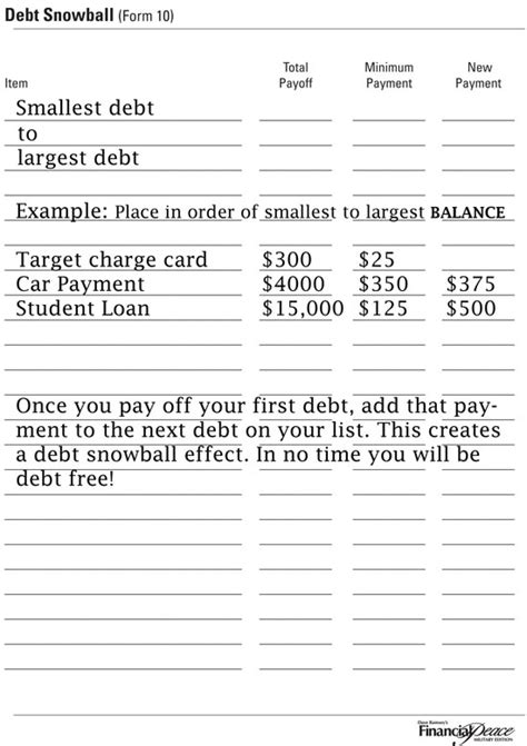part 4 organize your finances week creating your debt