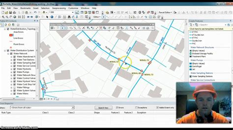 arcgis tutorial editing arcgis 10 2 water utility network editing youtube