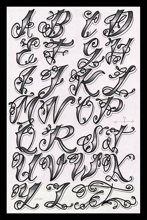 Letter Sle For Workshop Tattoos Designs Names Letter Fonts Alphabet
