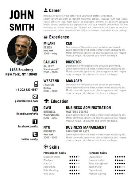 creative curriculum vitae template 7 best creative resume template images on pinterest