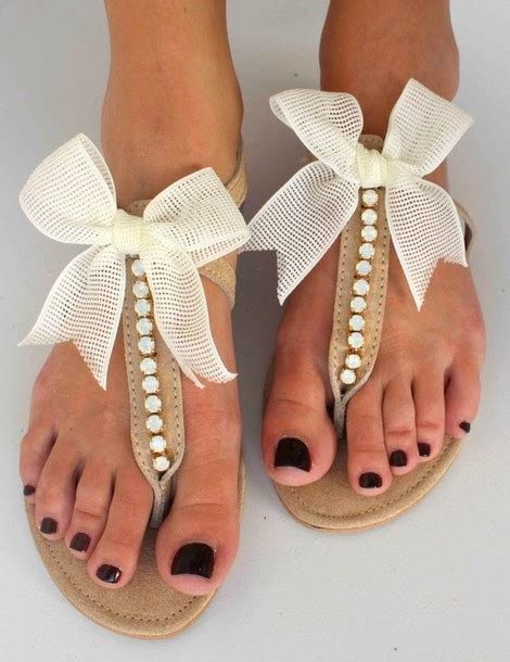 sandals with a bow shoes ivory bow bow shoes sandles panda white