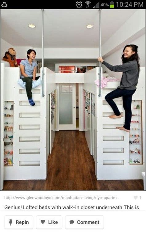 Loft Bed With Wardrobe Underneath by Closet Loft Bed Bunk Beds With Closets Underneath
