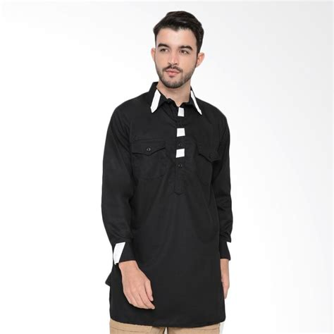 Baju Gamis Pria Hitam Jual Zayidan Baju Gamis Yaman Baju Muslim Koko Pria