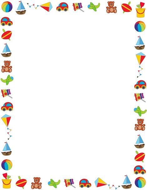 printable borders for children s writing 74 best borders colorful n fun images on pinterest