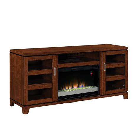 Allen And Roth Electric Fireplace by Shop Allen Roth 64 In W 4 600 Btu Auburn Wood And Metal