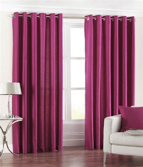wine coloured eyelet curtains homefab india set of 2 royal silky wine curtain buy