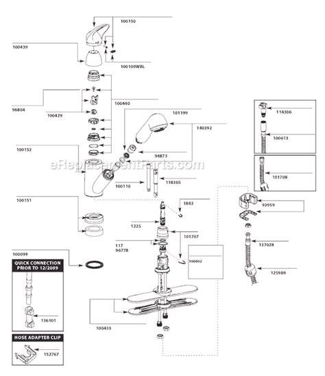 Moen Faucet Parts List by Moen 7570c Parts List And Diagram 3 10 To 10 10
