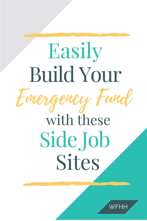 side jobs 9 side job sites to build your emergency fund work from home happiness