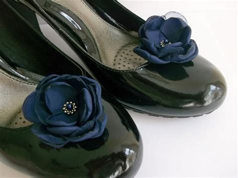 navy blue flower shoes items similar to small navy blue flowers in handmade