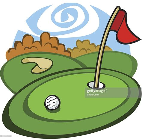 golf clipart golf course vector getty images