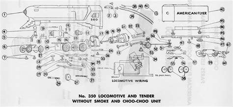 american flyer steam engine wiring diagram american flyer model 350 parts list and diagram traindr