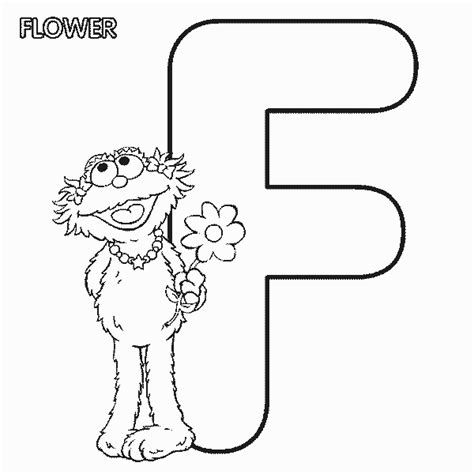 f zoe free printable alpha sesame coloring pages