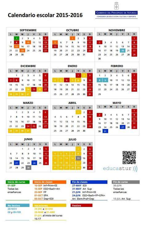Calendario 2018 A Udg Calendario Escolar Curso 2015 2016 A Ceip