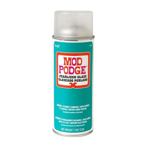 Decoupage Spray - mod podge 11 oz pearlized spray sealer 1449 the home depot