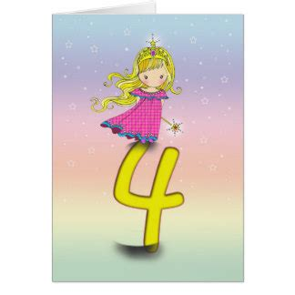 4 year birthday cards invitations zazzle au